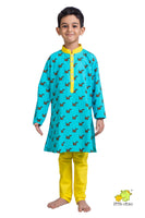 Dog Printed Kurta Churidar Set