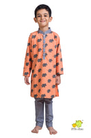 Elephant Printed Kurta Churidar Set
