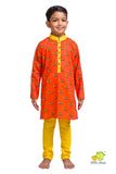 Racing Cars Printed Kurta Churidar Set