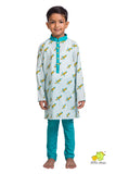 Rocket Printed Kurta Churidar Set