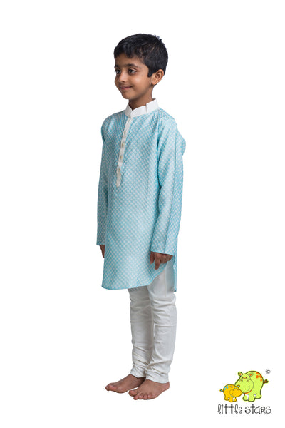 Jacquard Textured Kurta Churidar Set