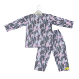 Camouflage Printed Full Sleeves Nightsuit Set