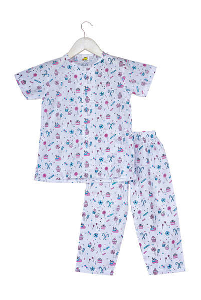 Candies & Cupcakes Printed Nightsuit