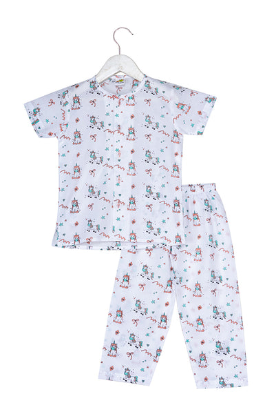 Ponies and Ribbons Printed Nightsuit