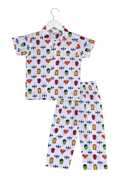 Superhero Printed Nightsuit