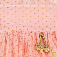 Gold Printed Pink Peplum Top And Shaded Dhoti Pants