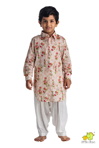 Floral Printed Pathani Set