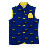 Boat Printed Nehru Jacket (Jacket only)
