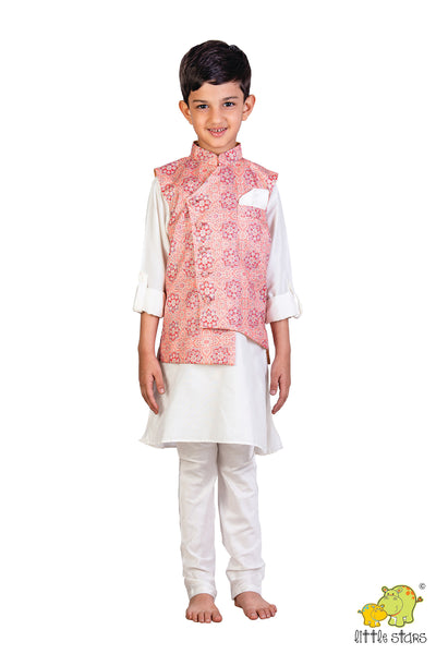 Ethnic Printed Nehru Jacket (Jacket only)