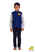 Embroidered Navy Blue Jacket  (Jacket Only)