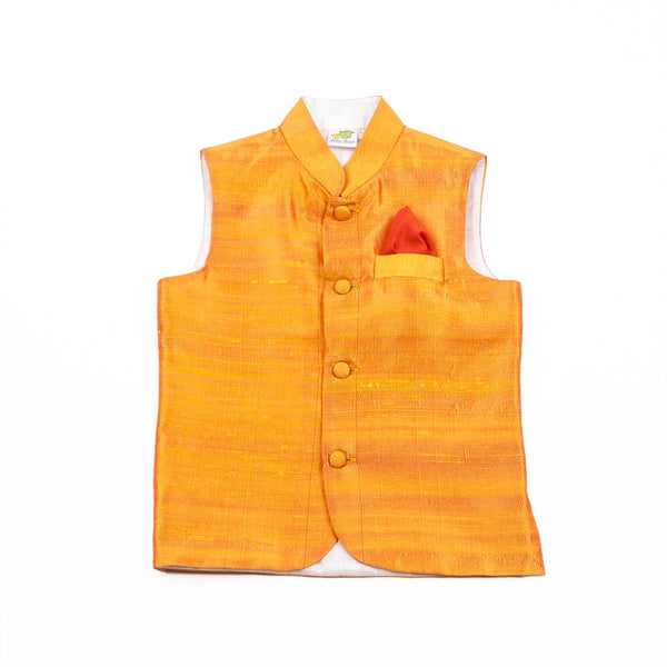 Raw Silk Nehru Jacket (Jacket only)