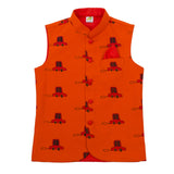 Cars Printed Nehru Jacket (Jacket only)