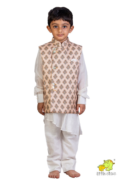 Printed Jacket with Kurta Set