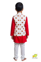 Superhero Printed Nehru Jacket (Jacket only)