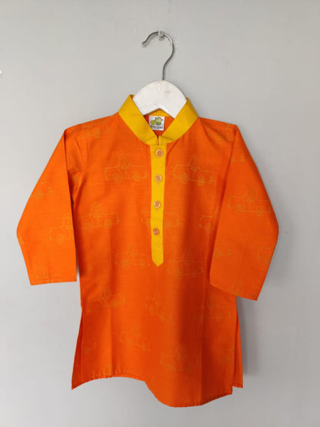 Cars Printed Kurta Churidar Set