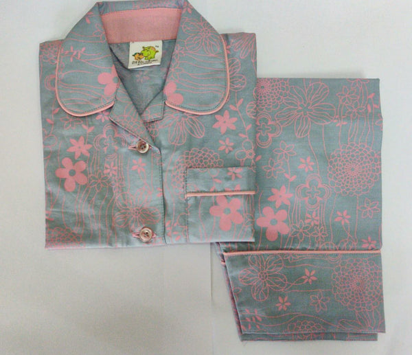 Flower Printed Nightsuit Set