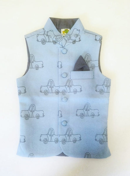 Outline Greycar Printed Nehru Jacket (Jacket only)