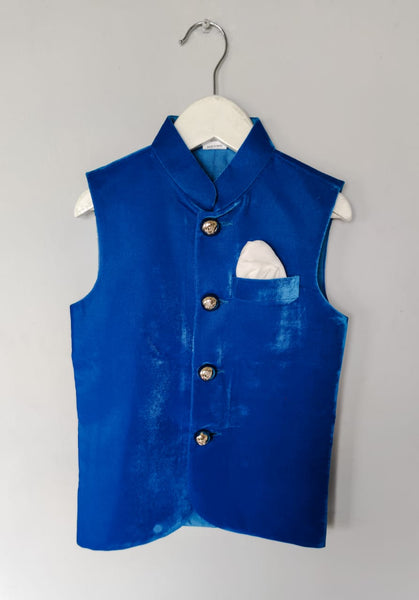 Velvet Nehru Jacket with Metal Buttons (Jacket only)