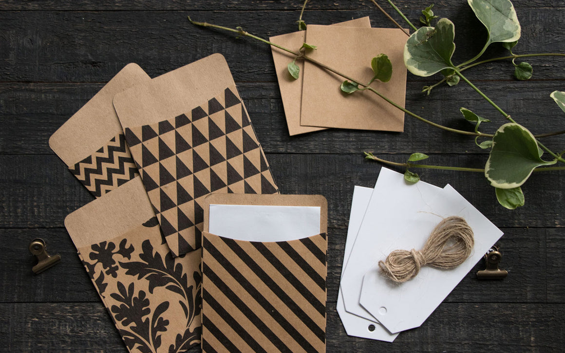 Kraft paper tag and card kit