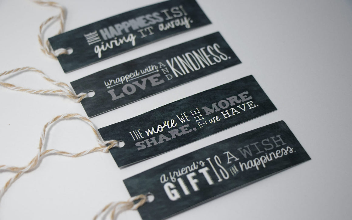 Chalkboard/metallic gift tags