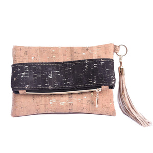 Black & Natural Glam Clutch