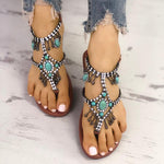Women Artificial Leather Sandals Casual Flip Flops Plus Size Bohemia Shoes