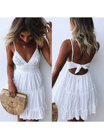 Sexy Lace Strap Stitching Dress