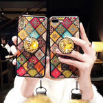 Vintage Fashion Iphone Case With Phone Holder