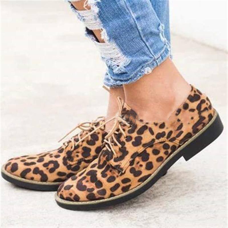 49dafea67f Comfort Low Heel Oxford Shoes Lace-up Daily Loafers