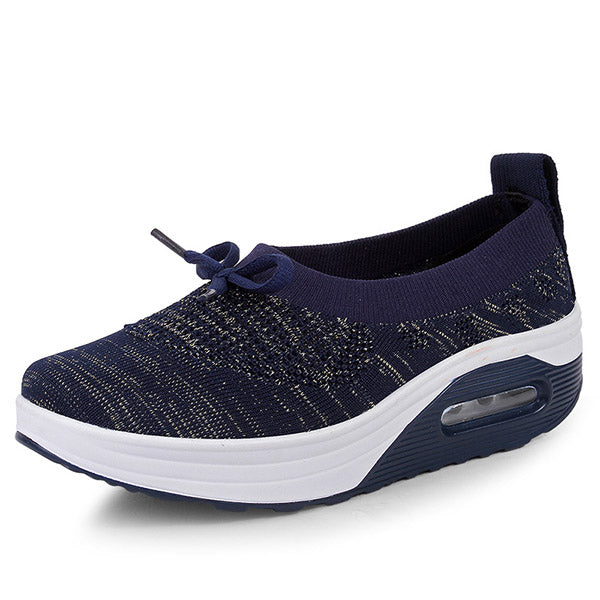 Women's Flying Woven Slip On Walking Sneakers