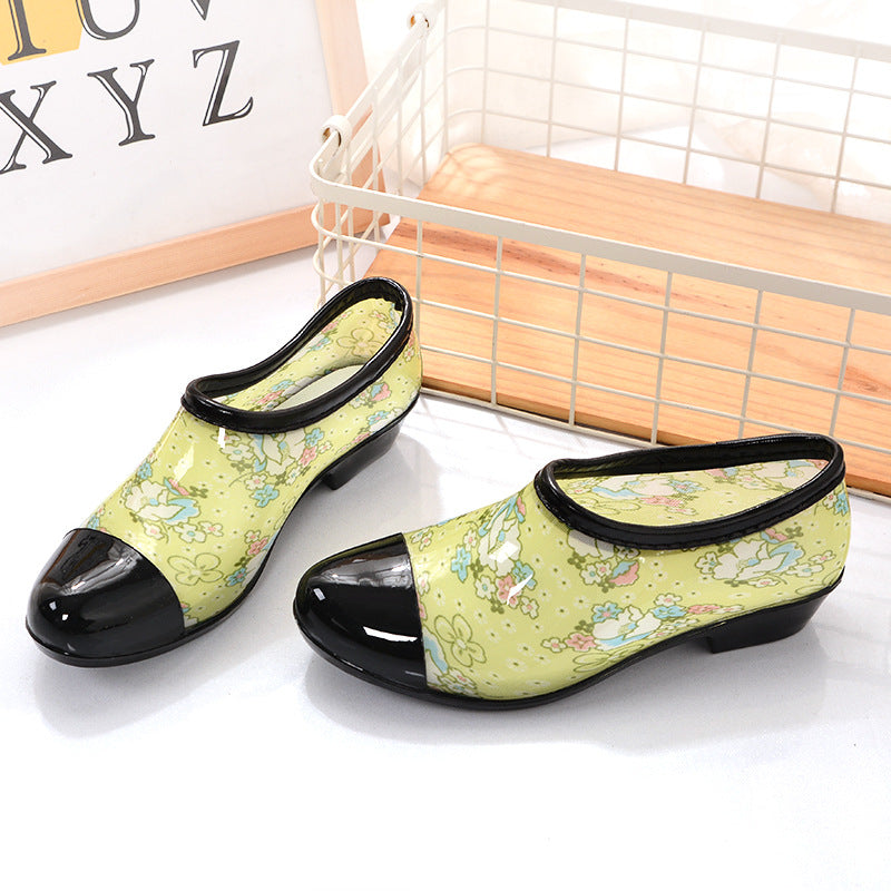 Women's Anti-slip Rain Boots Waterproof Garden Shoes