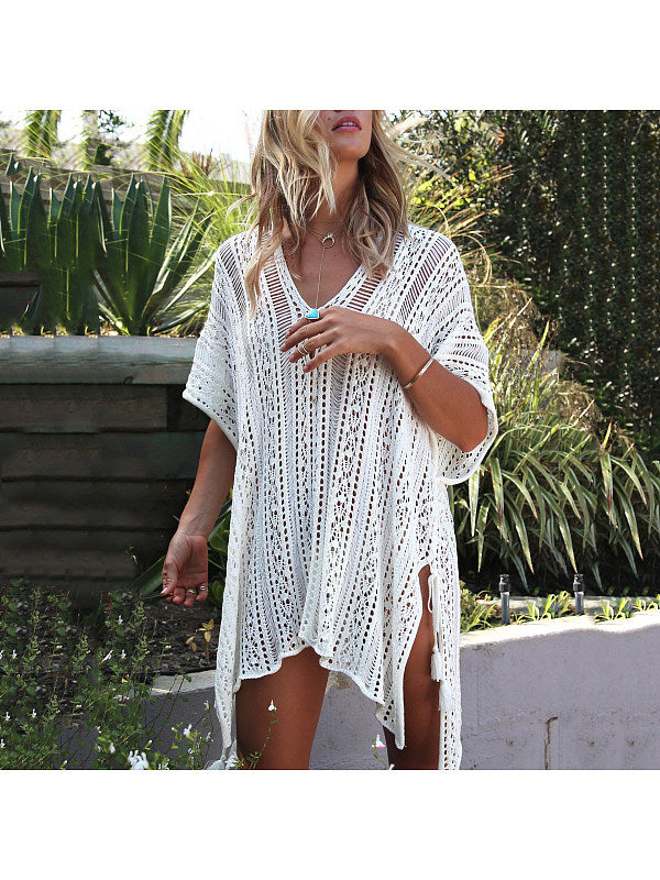 Bikini Beach Knit Sun Protection Blouse
