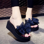 Casual Thick Non-slip Bow Beach Slippers