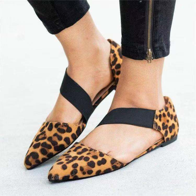 Fashion Retro Leopard Casual Pointed Shoes