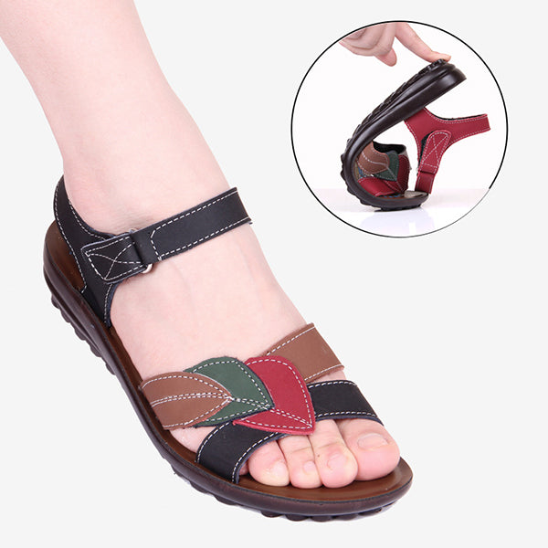 Soft Sole Middle-aged Cozy Flat Non-slip Sandals