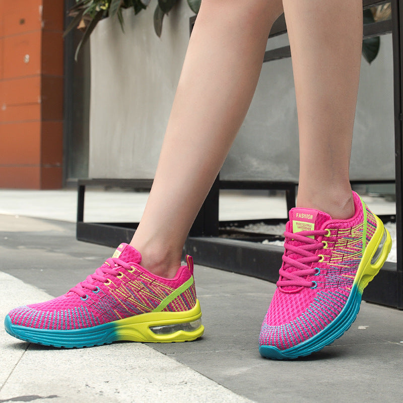 Flying Woven Air Cushion Running Women Shoes