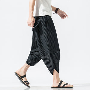Striped Japanese Style Wide-leg Bloomers