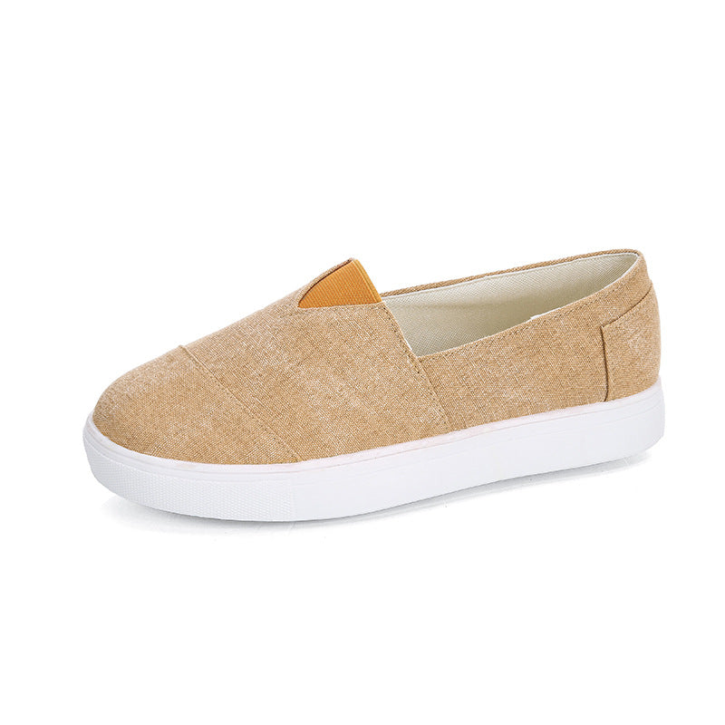 Casual Solid Color Canvas Loafers