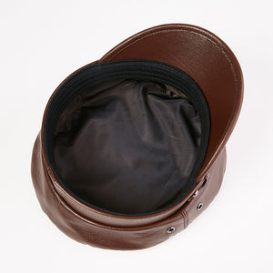 Leather Navy Hat