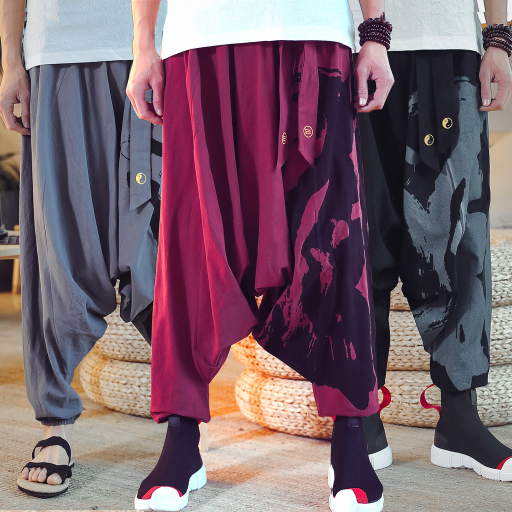 Cotton Linen Casual Baggy Harem Pants