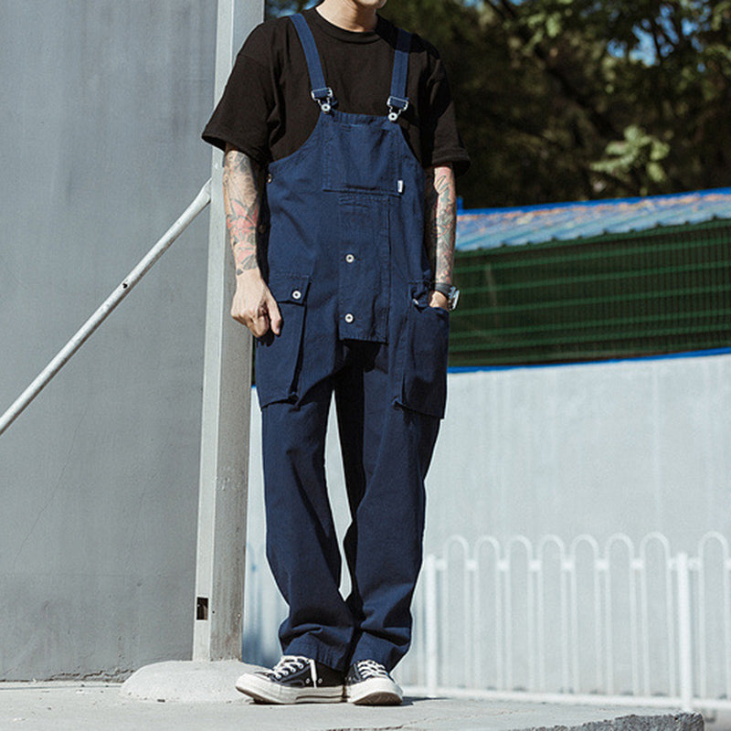 Japanese Washed-Denim Bib Overalls