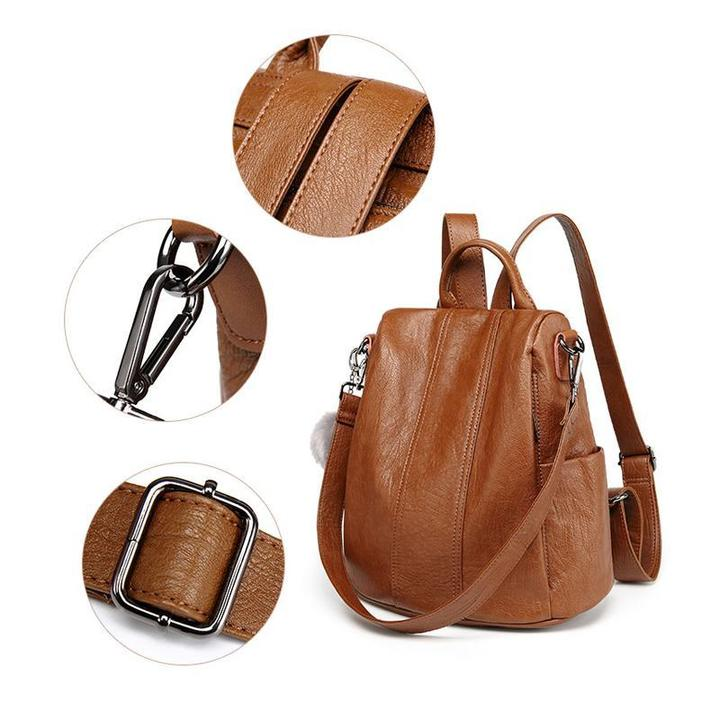 Anti-theft Soft Tote Casual Backpack