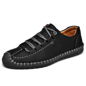 Men's Hand Stitching Anti-collision Soft Casual Leather Shoes