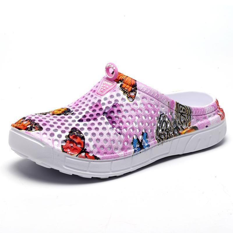 Women's Casual Garden Patten Print Hole Sandals & Slippers