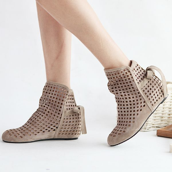 Fashion Women's Sandals Hollow Roman Lace Boots