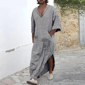 Striped Kaftan Shirts Plus Size Summer 2019