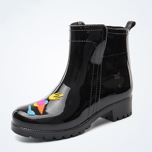 Women's Anti-slip Mid Rain Boots Waterproof Garden Shoes