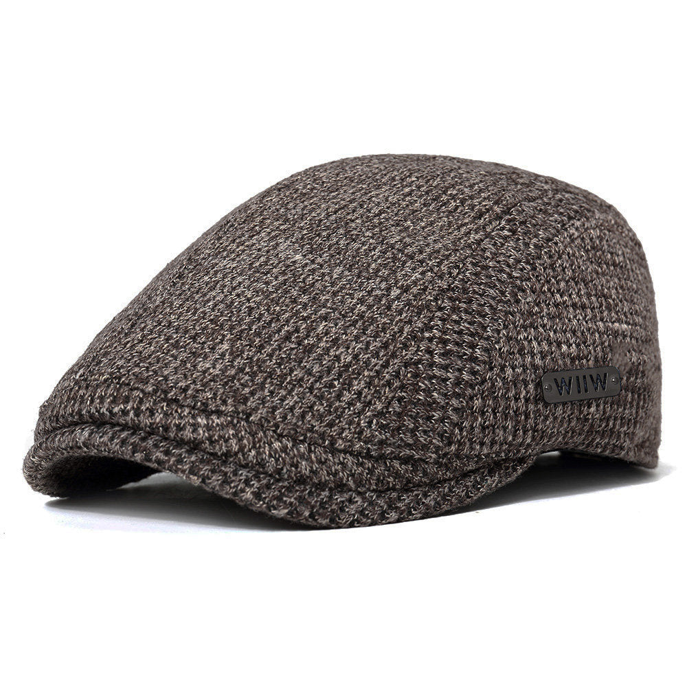Men Cotton Gatsby Flat Beret Cap Adjustable Knit Ivy Hat Golf Hunting Driving Cabbie Hat