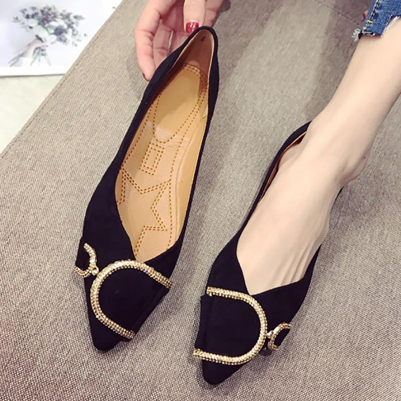Flat Heel Pointed Toe Daily Flats