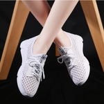 Hollow Out Breathable Fly-knit  Slip On Sneakers